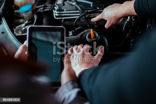 673723668 istock photo Handsome auto service workers 934894504