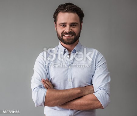 istock Handsome bearded businessman 852729456