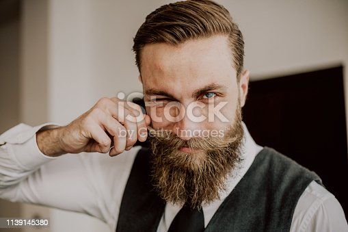 464621546 istock photo Handsome bearded hipster 1139145380