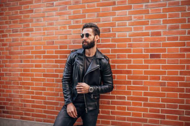 Handsome bearded man stock photo