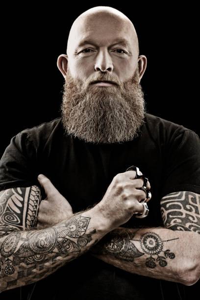 Mann Glatze Bart Bilder Und Stockfotos Istock
