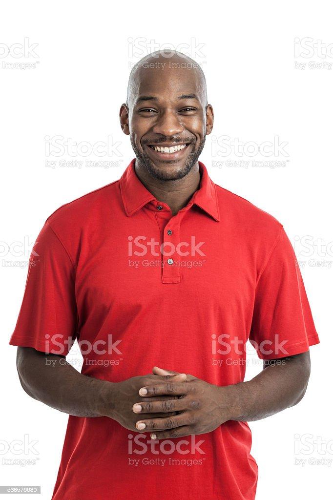 Handsome Black Man Portrait stock photo