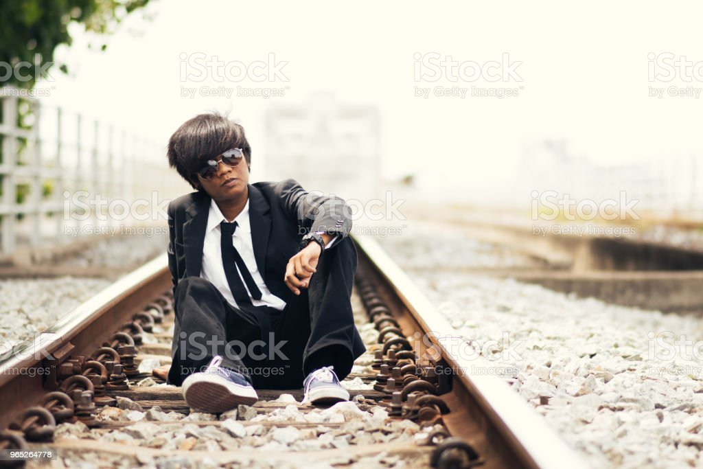 Handsome black skin businessman royalty-free stock photo