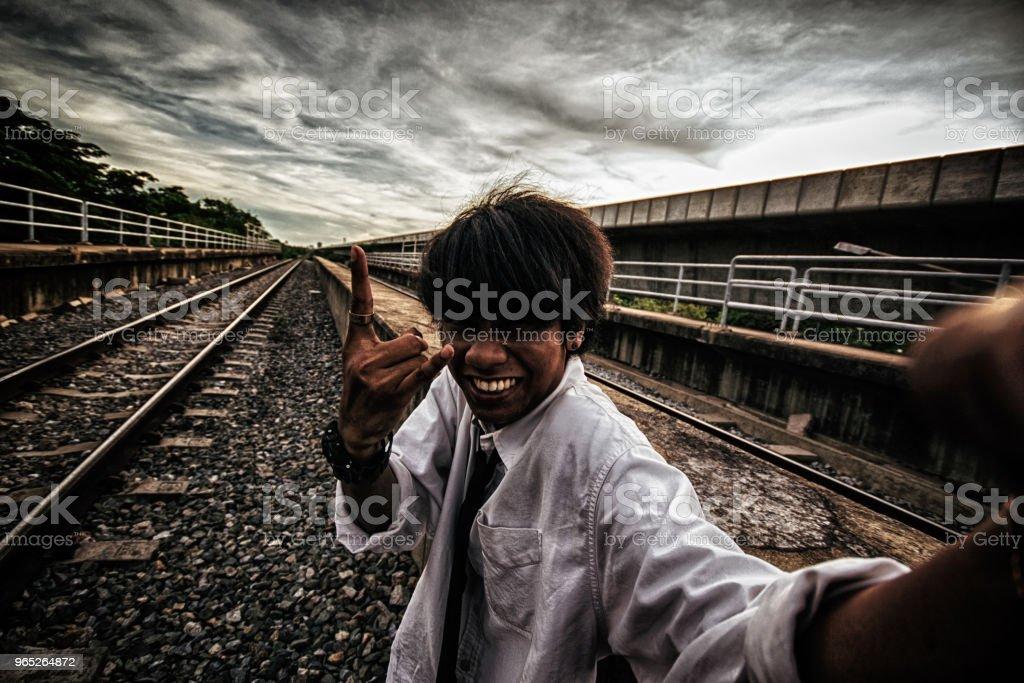Handsome black skin businessman zbiór zdjęć royalty-free