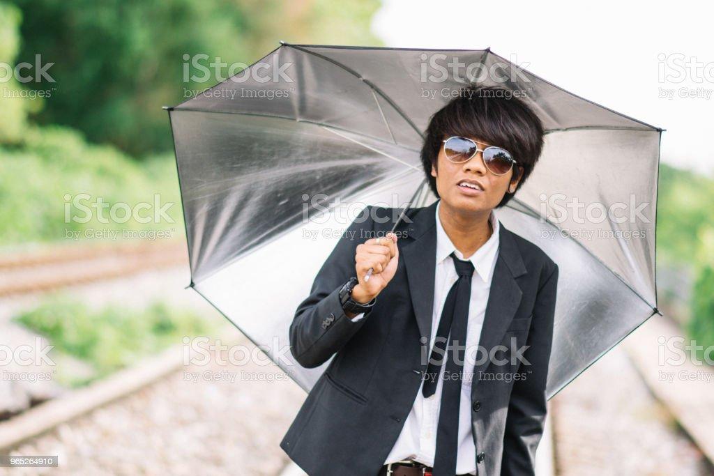 Handsome black skin businessman royalty-free stock photo