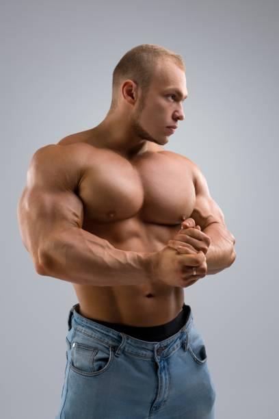 Hübsche Bodybuilder beschnitten – Foto
