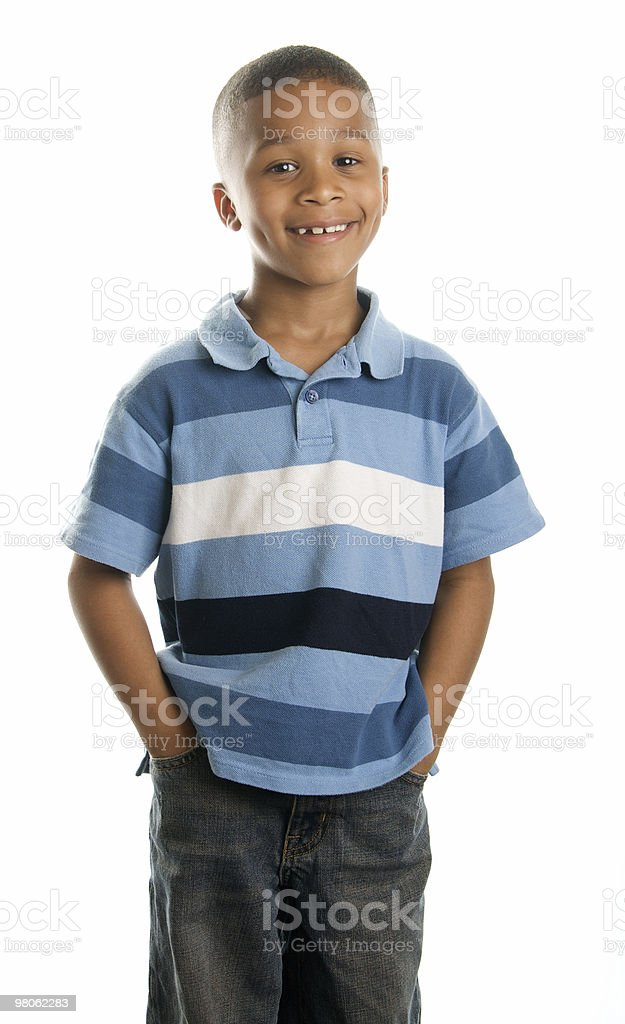 Handsome Boy against a White Background royalty-free stock photo