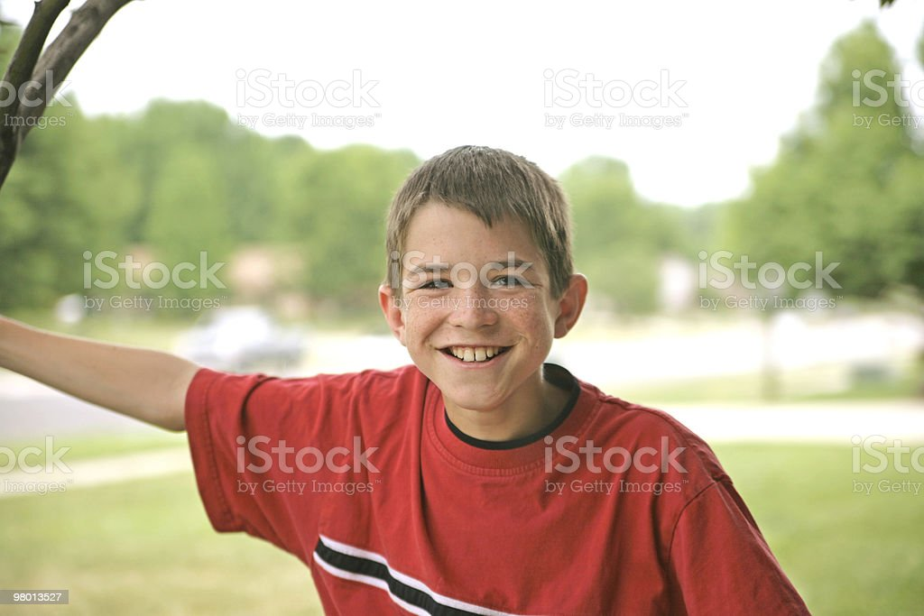 Handsome Boy in Red royalty-free stock photo