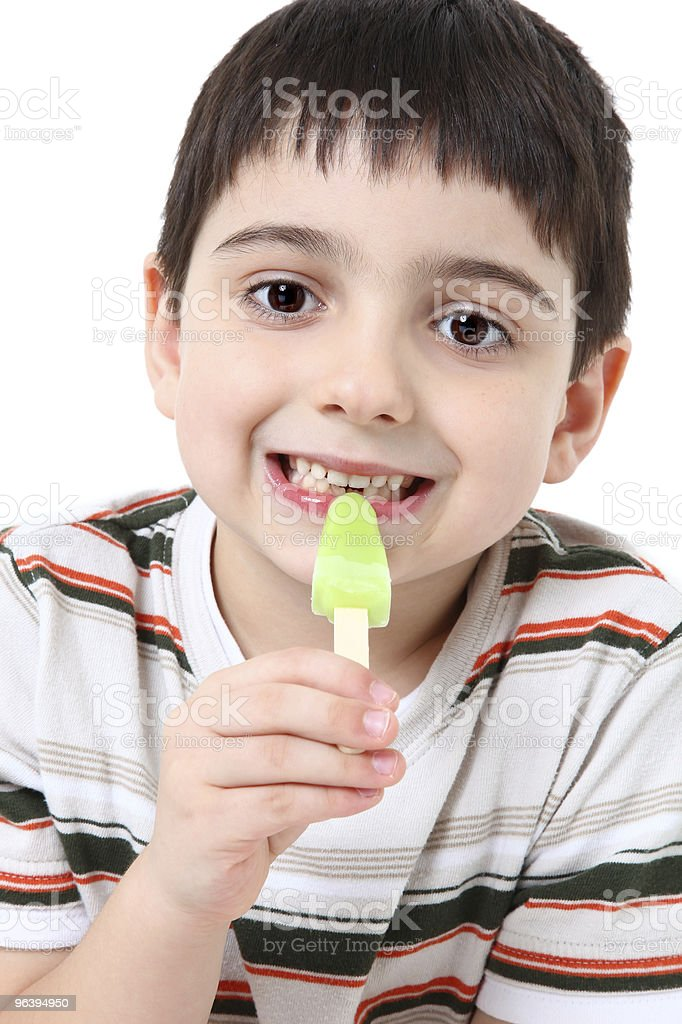 Handsome Boy with Popsicle - Royalty-free 4-5 Years Stock Photo