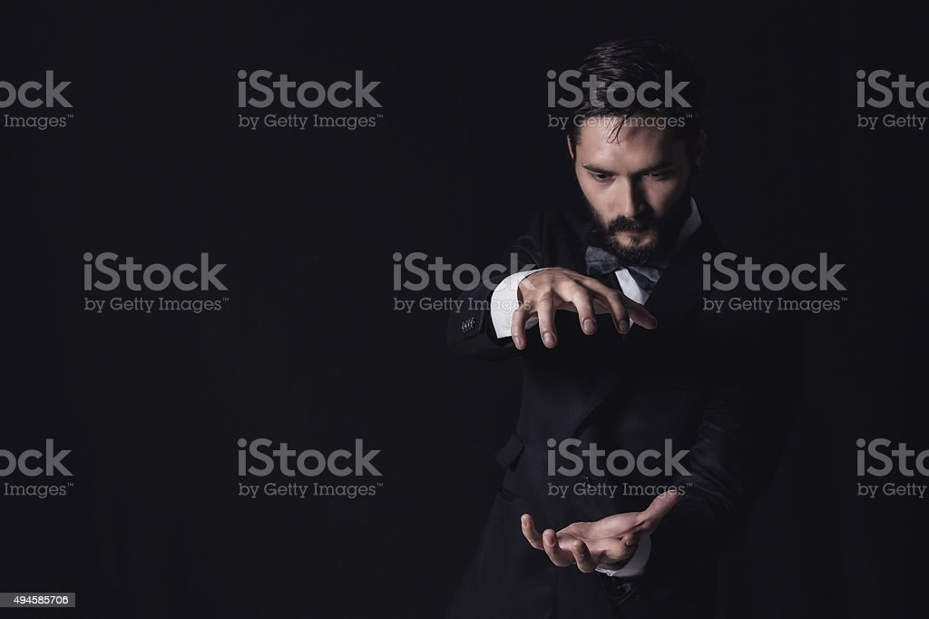 handsome business man stock photo