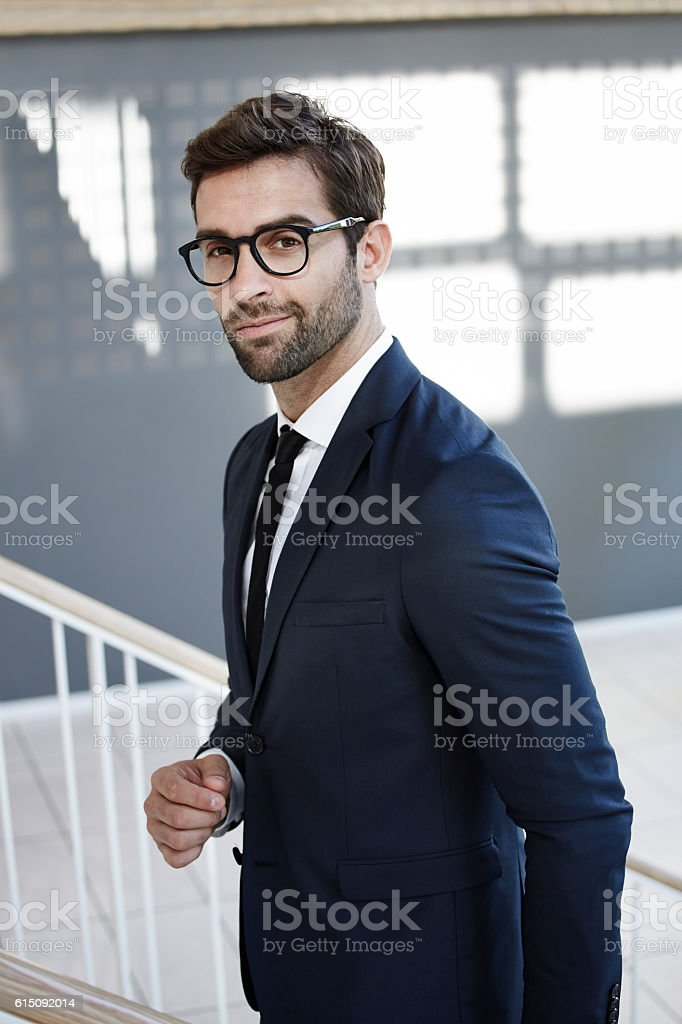 Handsome business stock photo