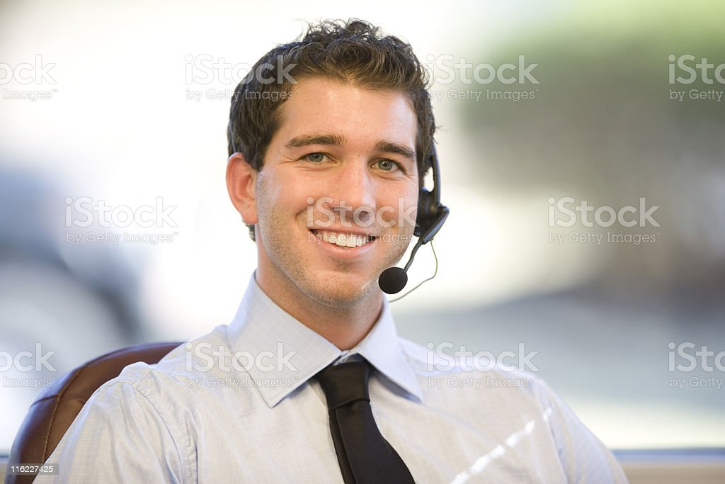 Handsome Businessman At His Desk royalty-free stock photo