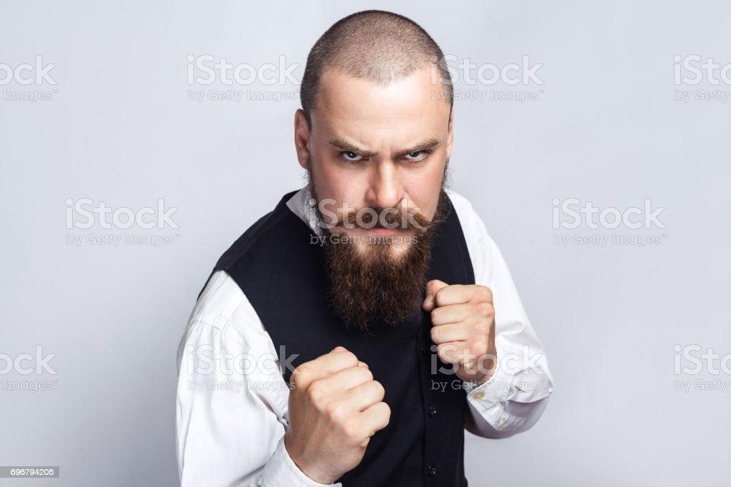 Gut aussehend Geschäftsmann Boxen – Foto