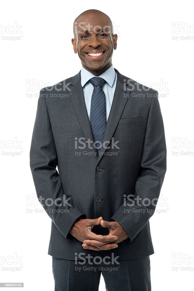 Handsome businessman isolated on white stock photo