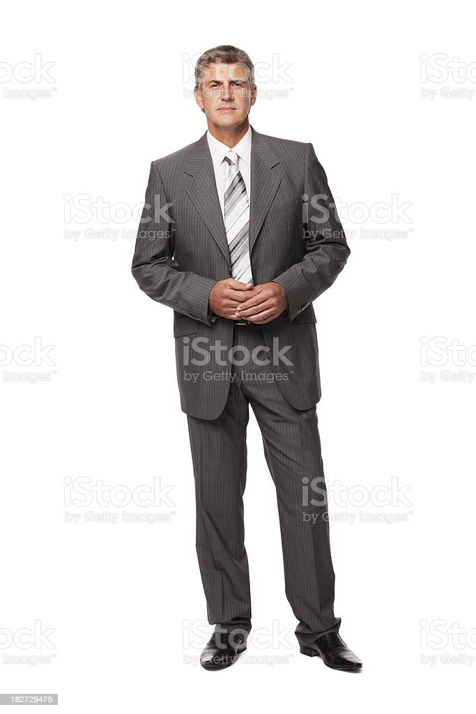 Handsome Businessman. Isolated stock photo