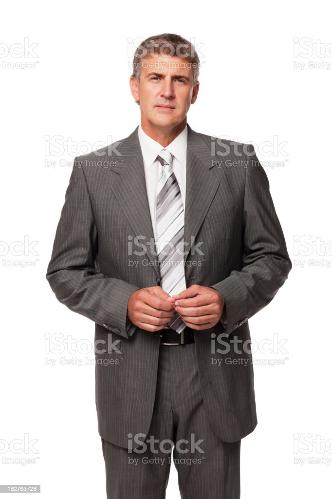 Handsome Businessman. Isolated royalty-free stock photo