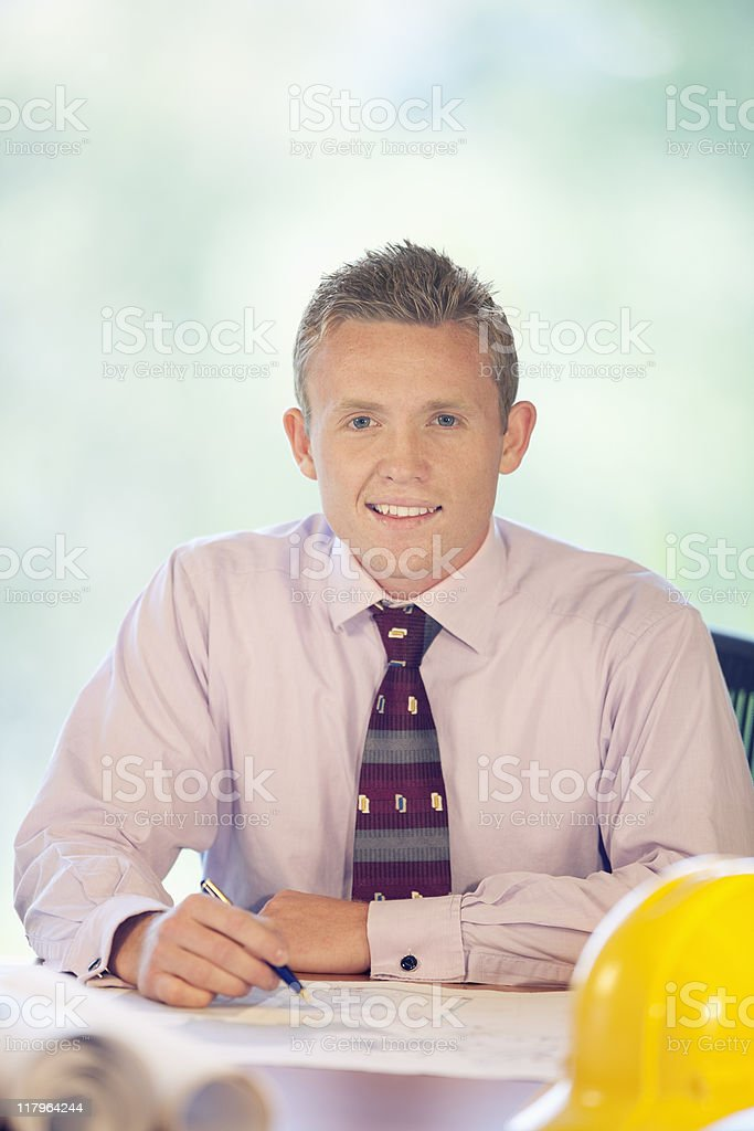 Handsome Businessman Looking At Camera royalty-free stock photo