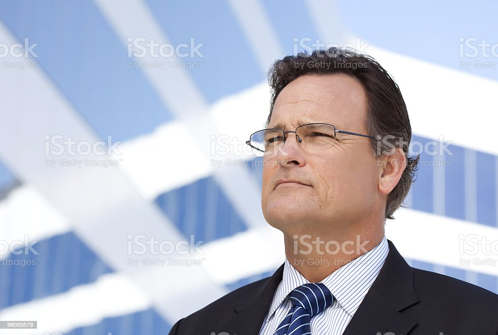Handsome Businessman Looking Out royalty-free stock photo