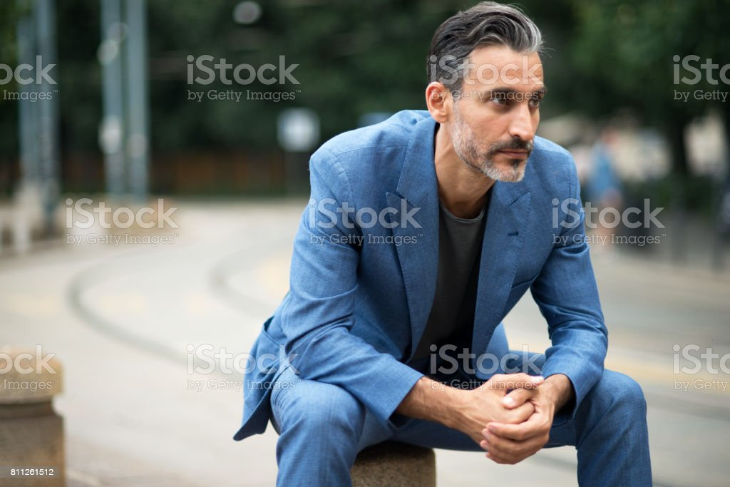 Handsome businessman. stock photo