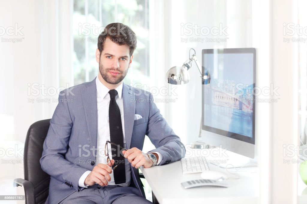 Handsome businessman stock photo