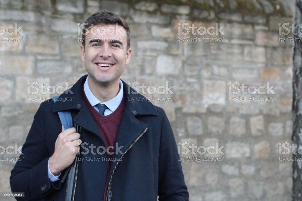 Handsome businessman smiling with copy space - Royalty-free 30-34 Years Stock Photo