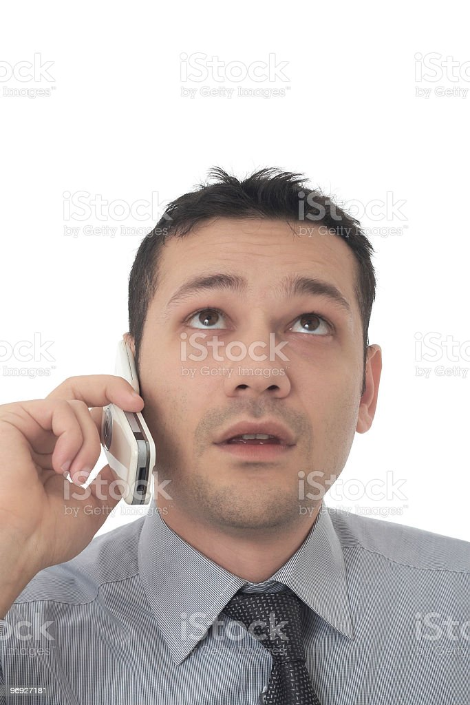 handsome businessman talking on a mobile phone royalty-free stock photo