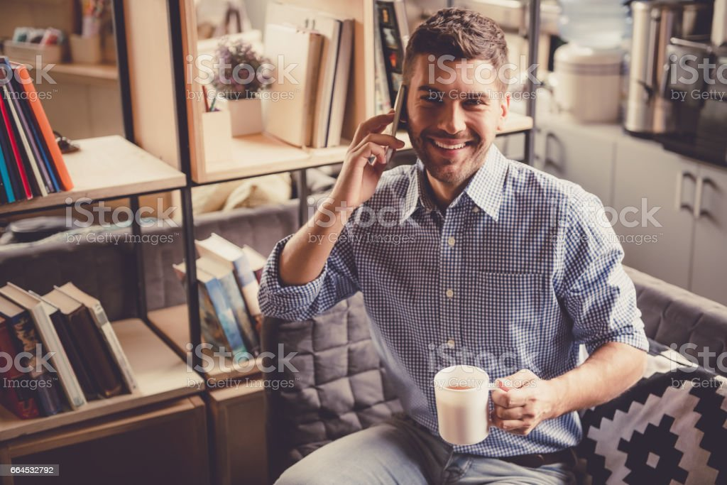 Handsome businessman working royalty-free stock photo