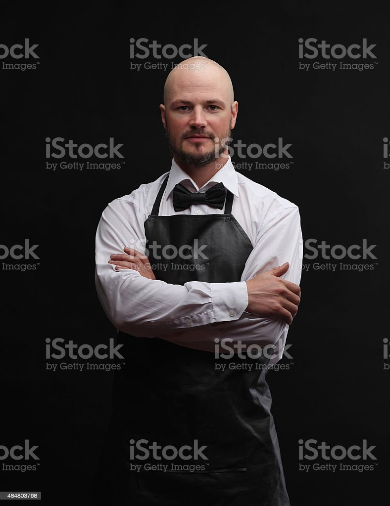 Handsome butcher stock photo