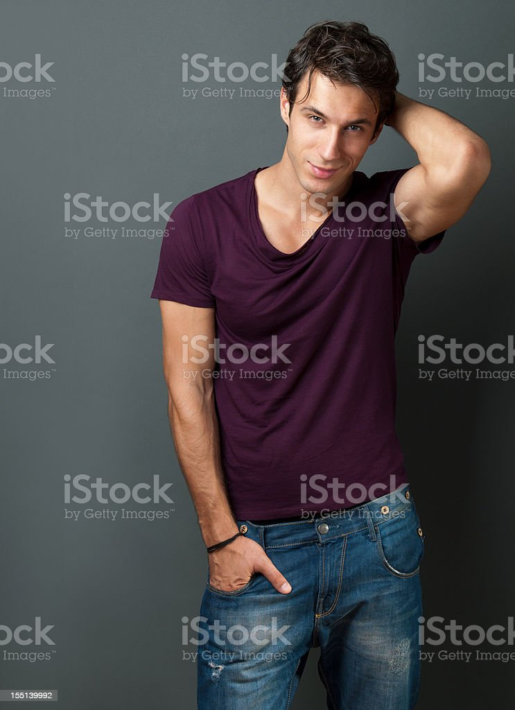 handsome casual man royalty-free stock photo