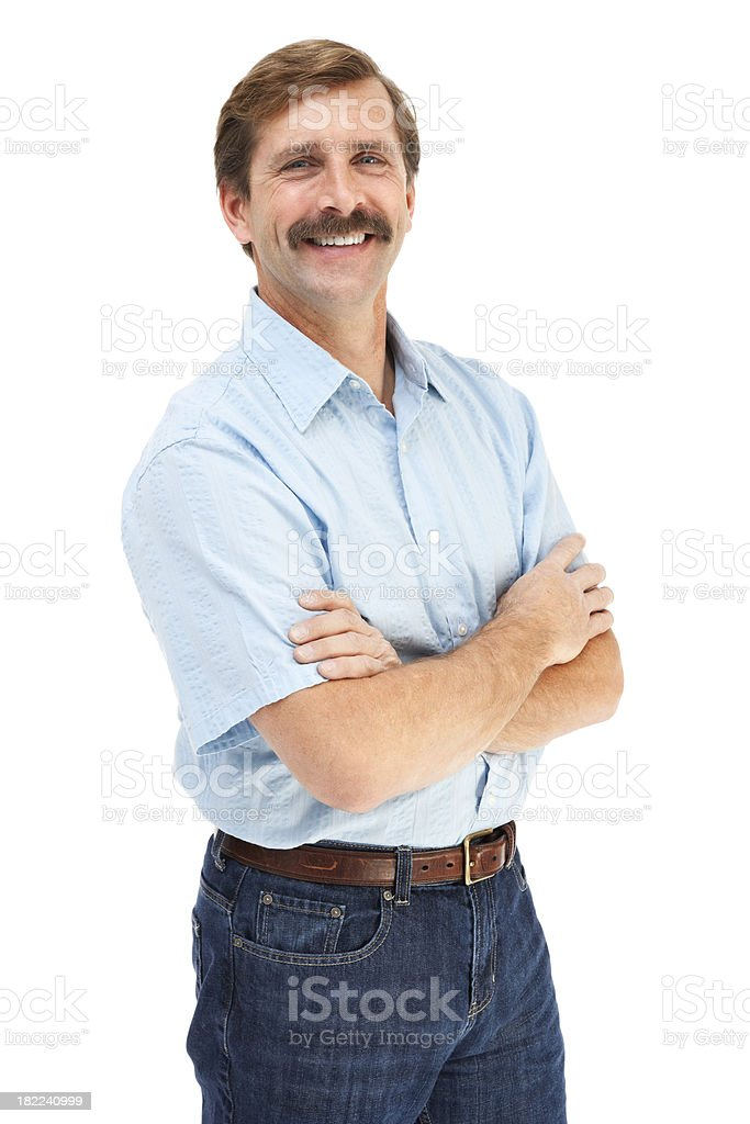 Handsome Casual Mature Male stock photo
