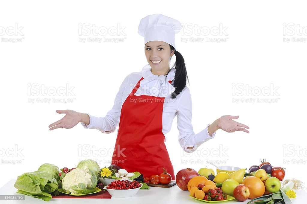 Handsome chef in uniform. royalty-free stock photo