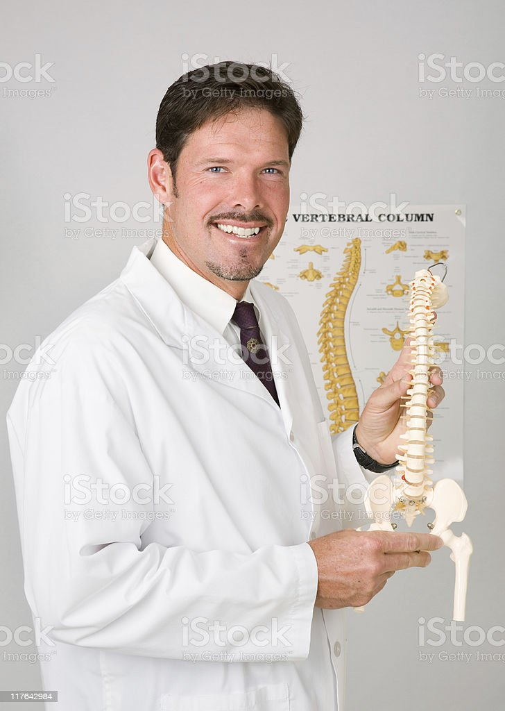 Handsome Chiropractor royalty-free stock photo