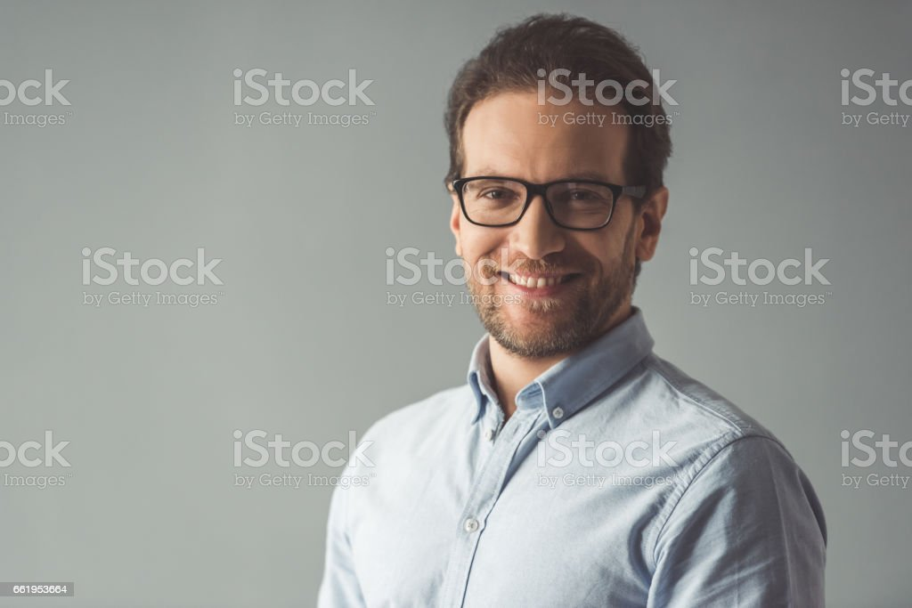 Handsome confident businessman royalty-free stock photo