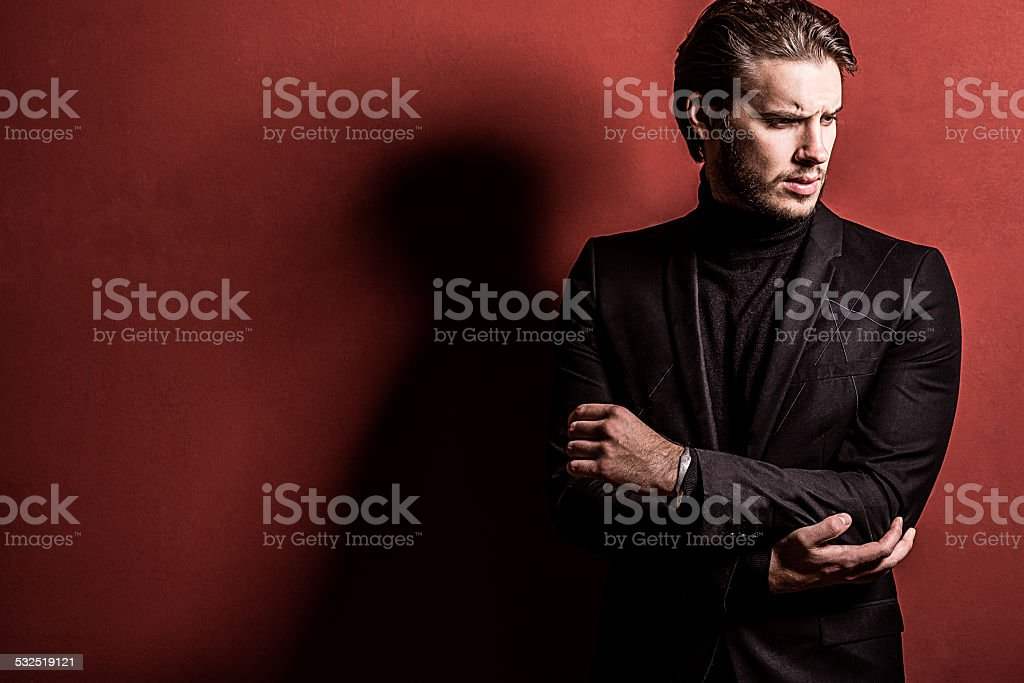 handsome confident man stock photo