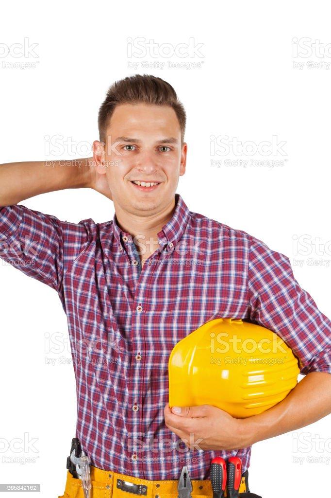 Handsome construction worker zbiór zdjęć royalty-free