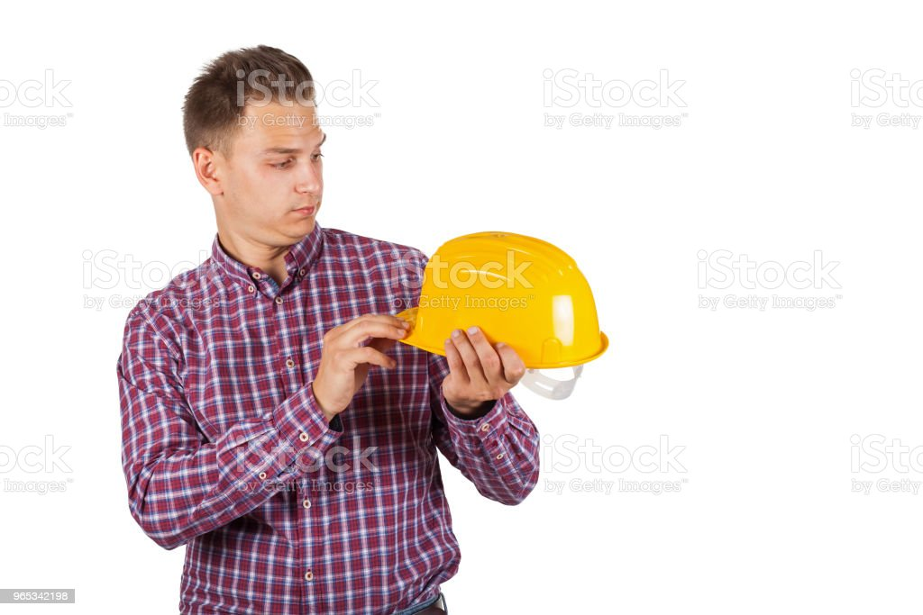 Handsome construction worker royalty-free stock photo