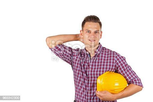 Handsome Construction Worker - zdjęcia stockowe i więcej obrazów Architekt