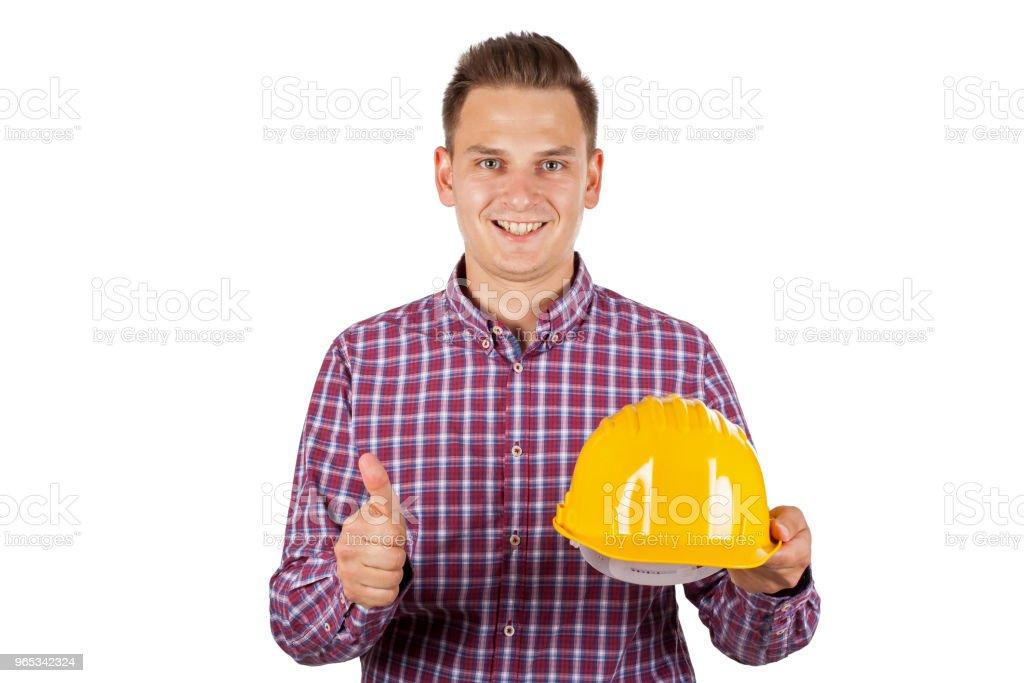 Bel construction Travailleur - Photo de Adulte libre de droits