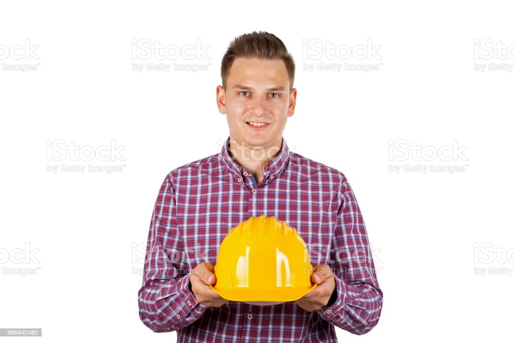 Handsome construction worker zbiór zdjęć royalty-free