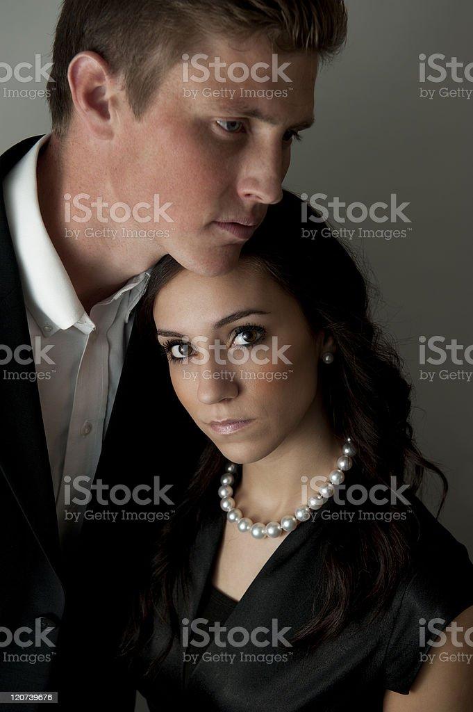Handsome couple stock photo