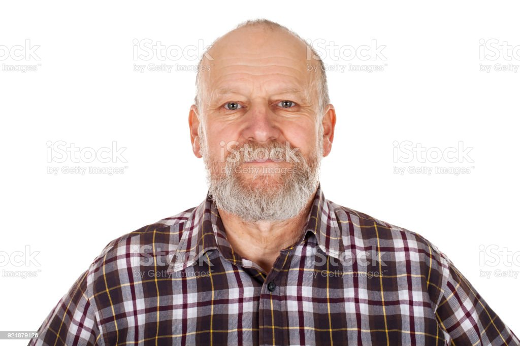 Handsome elderly man stock photo