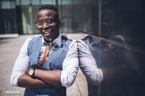 Portrait Of Elegant African Businessman