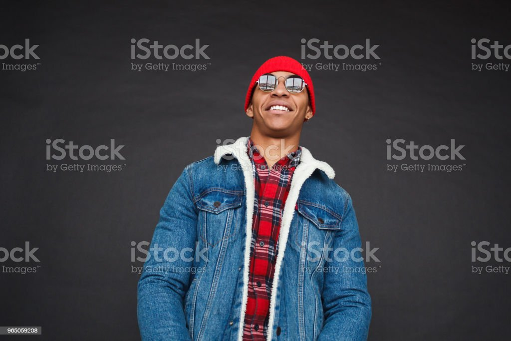 Handsome ethnic man in jacket royalty-free stock photo