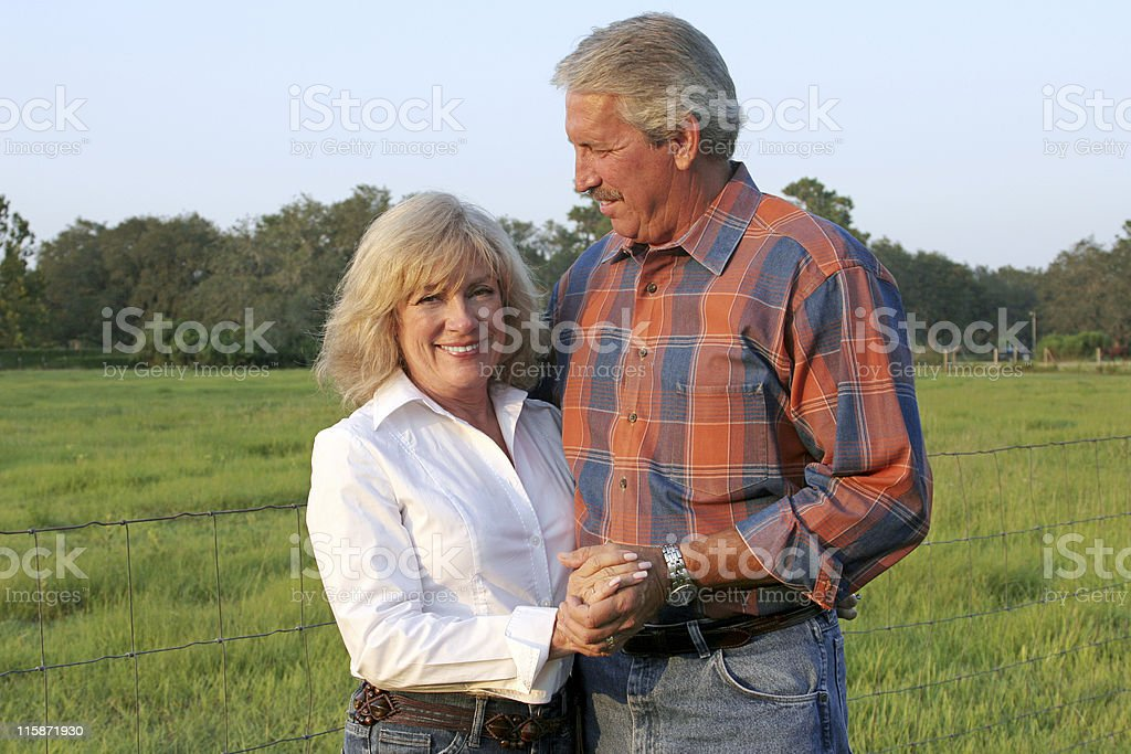 Handsome Farm Couple royalty-free stock photo