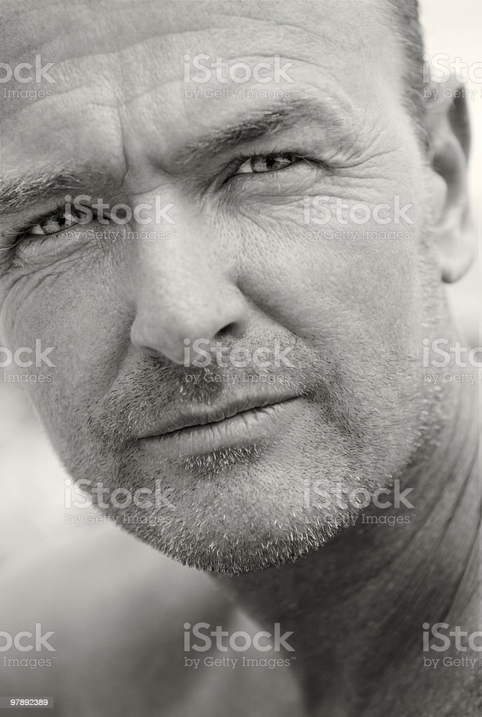 Handsome forties man. royalty-free stock photo