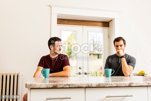 istock A handsome gay couple experiencing relationship issues. 871172826