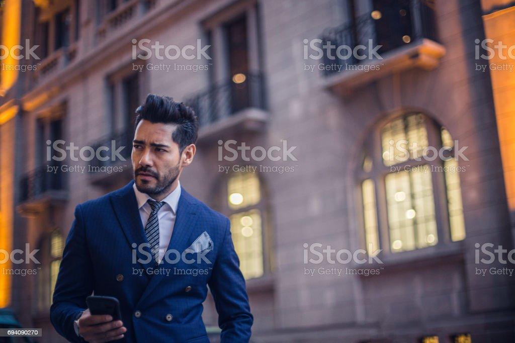 Handsome gentleman stock photo