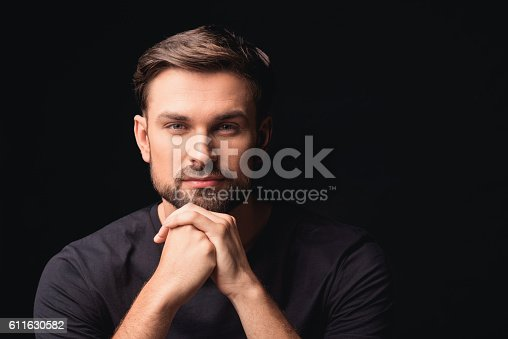 611630440 istock photo Handsome guy evincing his assurance 611630582