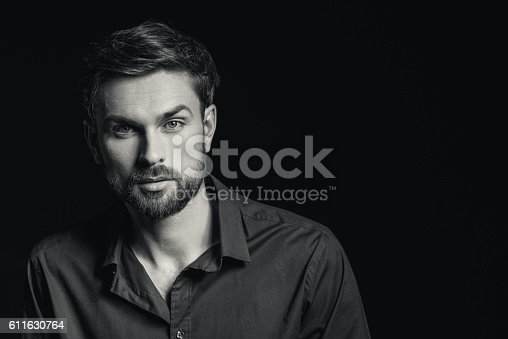 611630440 istock photo Handsome guy is evincing his confidence 611630764