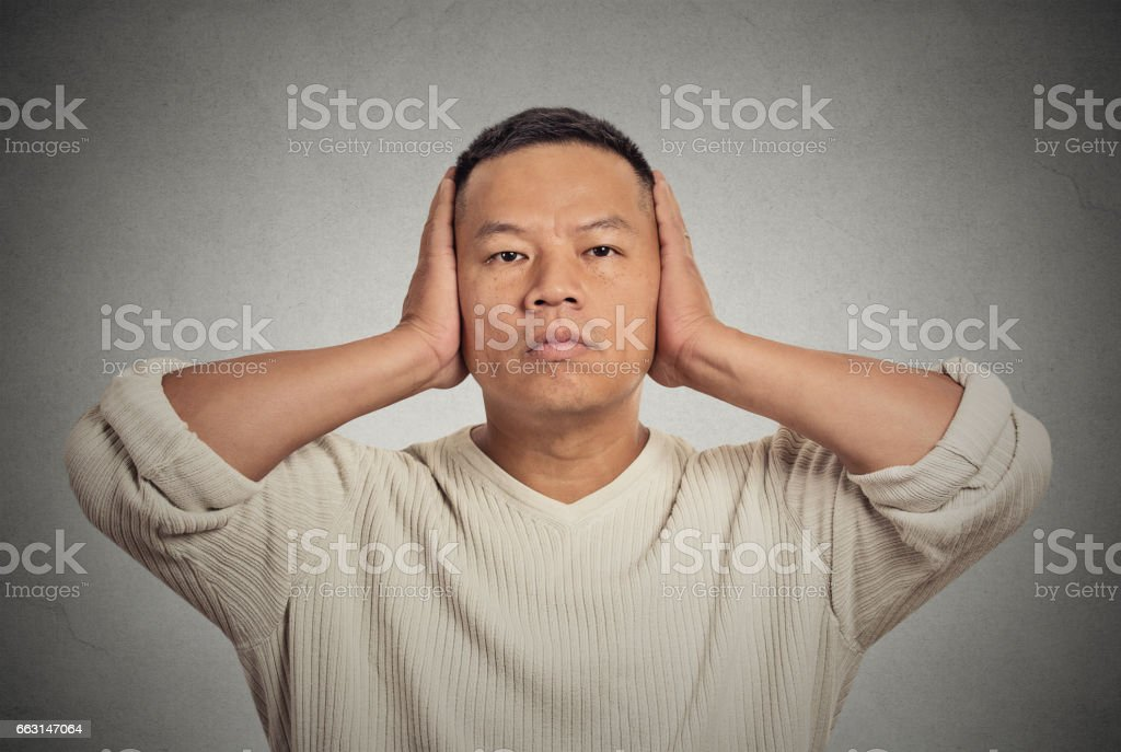 handsome guy, peaceful, looking relaxed stock photo